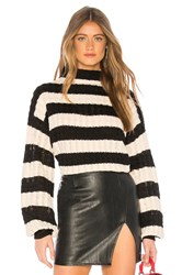 Line And Dot Anna Sweater Black And White
