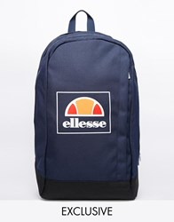 Ellesse Box Logo Backpack Exclusive To Asos Blue