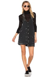 Tortoise Pinafore Dress Black And Beige Paint Splatter