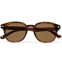 Tom Ford Frank Tortoiseshell Acetate D Frame Sunglasses Brown