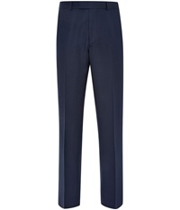 Austin Reed Birdseye Tailored Fit Suit Trousers Blue