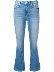 Frame Cropped Flared Jeans Blue