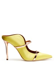 Malone Souliers Maureen Satin Mules Yellow Multi