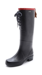 Aigle Miss Juliette Laced Boots Marine Rouge