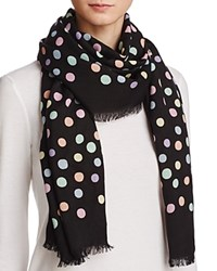 Marc Jacobs Polka Dot Scarf Black Multi