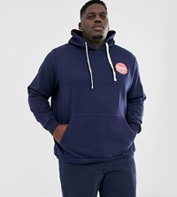 Friend Or Faux Plus Neocity Back Print Hoodie Navy