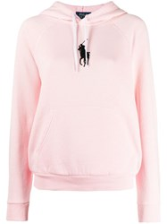 Polo Ralph Lauren Logo Embroidered Hoodie Pink
