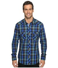 Rock And Roll Cowboy Long Sleeve Snap B2s9075 Blue Men's Long Sleeve Button Up
