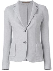 Eleventy Two Button Woven Blazer Grey