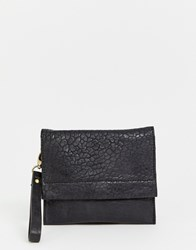 Urbancode Small Leather Cross Body Bag With Flapover Black