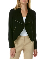 Laundry By Shelli Segal Open Front Moto Jacket Black