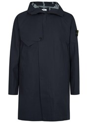 Stone Island Navy Waterproof Coated Shell Parka