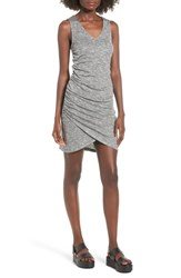 Love Fire Ruched Tank Dress Heather Grey