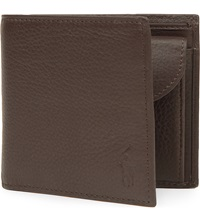 Ralph Lauren Pebbled Leather Wallet Brown