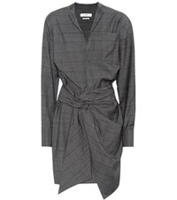Etoile Isabel Marant Nolla Wool Wrap Dress Grey