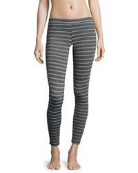 Eberjey Ticking Stripes Pull On Leggings Thunderstorm