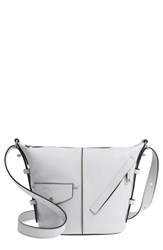 Marc Jacobs The Mini Sling Convertible Leather Hobo Grey Light Grey
