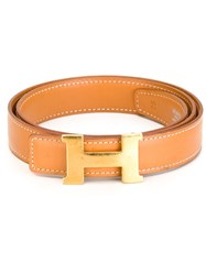 Hermes Vintage Interchangeable Two Piece Belt Nude And Neutrals