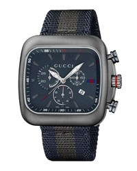Gucci Coupe Xl Chronograph Watch Blue