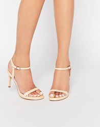 Faith Dolly Nude Barely There Sandals Nude Beige