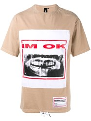 Liam Hodges I'm Ok Printed T Shirt Nude And Neutrals