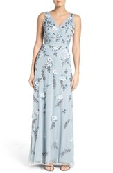 Adrianna Papell Women's Beaded Applique Gown