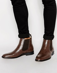 New Look Faux Leather Chelsea Boot Mocha