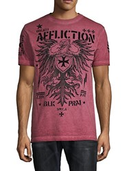 Affliction Graphic Cotton Tee Red