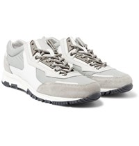 Lanvin Leather Suede And Shell Sneakers Gray