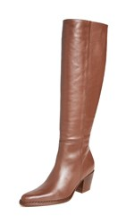 Vince Hurley Tall Boots Cognac