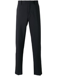 Oamc Classic Tailored Trousers Men Cotton Cupro Virgin Wool 50 Blue
