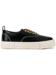 Eytys Flatform Lace Up Sneakers Black
