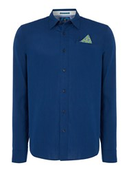 Scotch And Soda Men's Crispy Poplin Shirt Navy