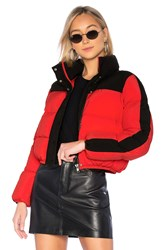 Lovers Friends Drive Puffer Jacket Red