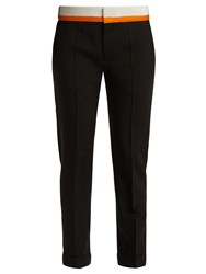 Haider Ackermann Contrast Panel Wool Blend Trousers Black