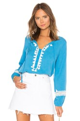 Line And Dot Deliah Tunic Blue