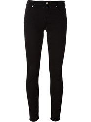 7 For All Mankind Cropped Skinny Trousers Black