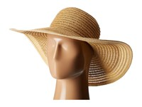 San Diego Hat Company Ubl6491 Four Buttons Floppy Color Block Natural Traditional Hats Beige