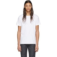 Naked And Famous Denim White Circular Knit T Shirt