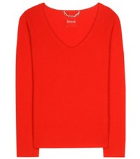 81 Hours Catia Cashmere Sweater Red