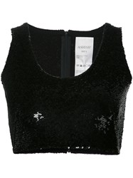 Ashish Sequin Crop Top Women Silk Xs Black
