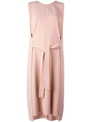 Theory Belted Dress Nude Neutrals