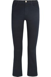 J Brand Selena Cropped Mid Rise Flared Jeans Midnight Blue