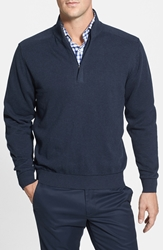 Cutter And Buck 'Broadview' Half Zip Sweater Navy Heather