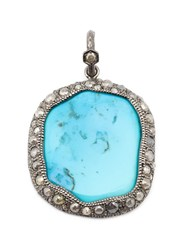 Loree Rodkin Turquoise And Diamond Pendant Blue