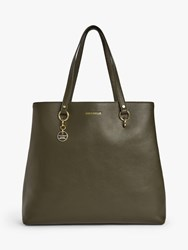 Coccinelle Alpha Medium Leather Tote Bag Reef
