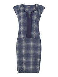 Part Two Graphic Printed Easy Dress With Pockets Blue