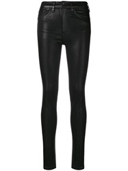 Rag And Bone Shiny Skinny Trousers Black