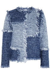 M Missoni Patchwork Denim Look Tweed Jacket