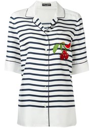 Dolce And Gabbana Striped Shirt White